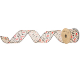 """Leaves Wired Edge Ribbon - 2 1/2"""""""