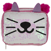 Reverse Sequin Cat Lunch Box