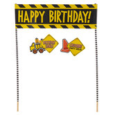 Happy Birthday Construction Cake Banner
