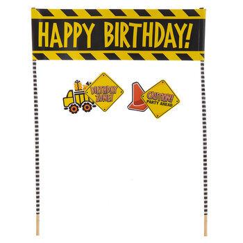 Happy Birthday Construction Cake Banner