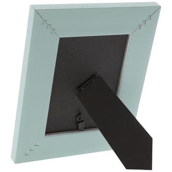 TurquoiseDistressed Wood Look Frame