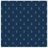 "Navy Anchor Scrapbook Paper - 12"" x 12"""