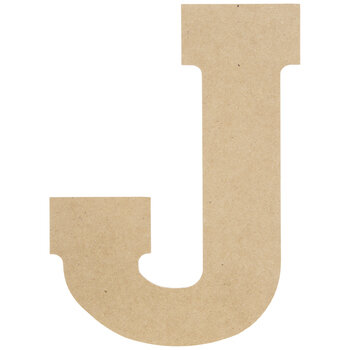 """Wood Letter J - 13"""""""