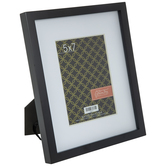 """Black Wood Frame With Mat - 5"""" x 7"""""""