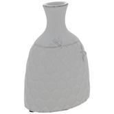 White Honeycomb Bee Vase