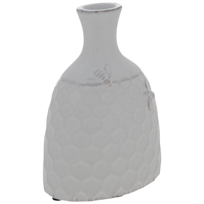 DRIED LAVENDER in  Honey Bee VASE                 Honey Comb Vase with Lavender