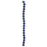 Blue Round Natural Lapis Bead Strand