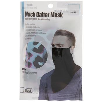 Blue & Pink Leopard Gaiter Face Mask