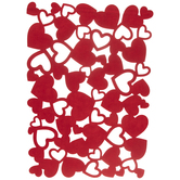 Red Heart Cut-Out Placemat