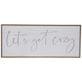Let's Get Cozy Wood Wall Decor