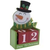 Snowman Days 'Til Christmas Countdown Wood Decor