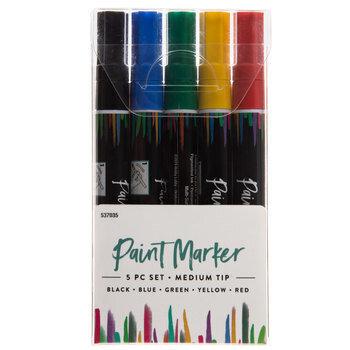 Medium Tip Paint Markers - 5 Piece Set