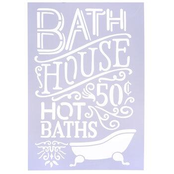 Bath House Stencil
