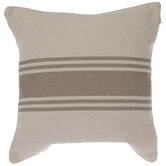 Beige & Tan Striped Pillow Cover