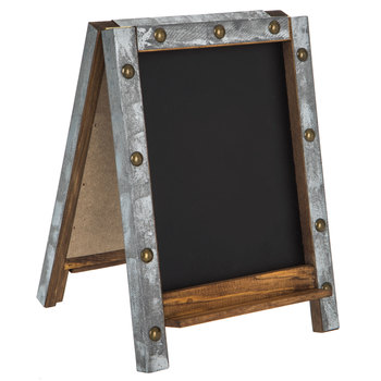 Easel Chalkboard With Galvanized Frame