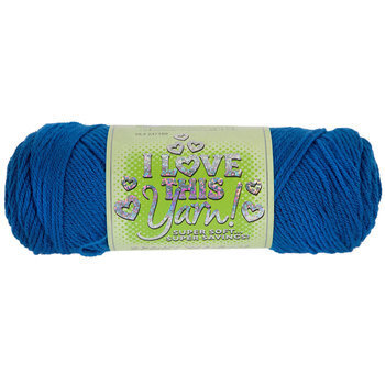 Bright Blue Sport Weight I Love This Yarn