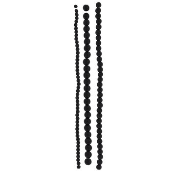 Black Glass Bead Strands