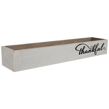 White Thankful Wood Box
