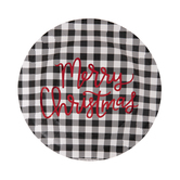 Buffalo Check Merry Christmas Paper Plates - Large