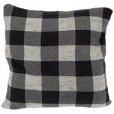 Dark Gray Buffalo Check Knit Pillow Cover