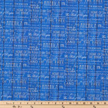 American Pride Words Cotton Calico Fabric