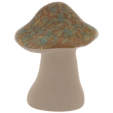 Brown & Turquoise Pointed Mushroom