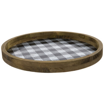 Buffalo Check Galvanized Metal Tray