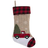 Truck & Tree Jute Stocking