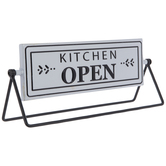 Kitchen Open & Closed Rotating Metal Decor