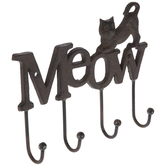 Meow Metal Wall Decor With Hooks