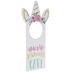 Unicorn Princess Cave Wood Door Hanger
