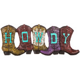Howdy Boots Wall Decor