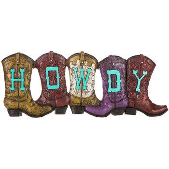 Howdy Boots Wall Decor