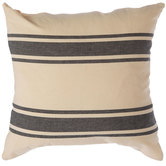 Natural & Black Striped Pillow Cover