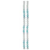 Blue & Cream Pearlescent Glass Bead Strands