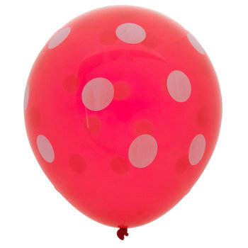 Red & White Polka Dot Balloons