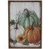 Pumpkins & Leaves Wood Wall Decor