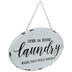 Laundry Oval Metal Sign
