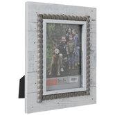 "Distressed White Beaded Wood Frame - 5"" x 7"""