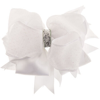 White Layered Elegant Bow Hair Clip