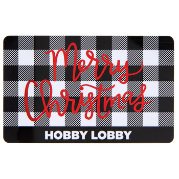 Plaid Merry Christmas Gift Card