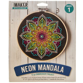 Neon Mandala Embroidery Project Kit