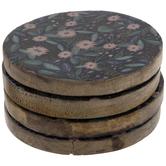 Floral Wood Coasters