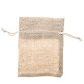 Canvas Drawstring Pouches - Small
