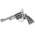 Revolver Pendant With Rhinestones