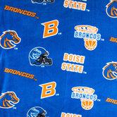 Boise State Allover Collegiate Fleece Fabric