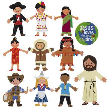 Jesus & Children Foam Stickers