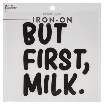 But First Milk Iron-On Applique