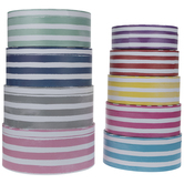 Round Watercolor Striped Boxes