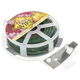 Green Easy Cut Green Floral Wire - 22 Gauge